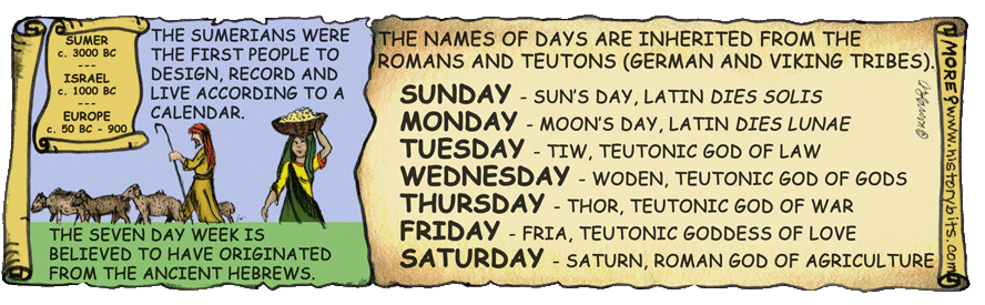 Days of the Week Calendar